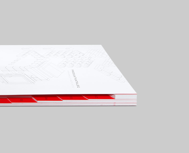 Editorial Design, Katalog, Registerschnitt
